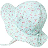 Twinklebelle JAN & JUL Kids 50+UPF Cotton Sun-Hat, Adjustable for Growth with Strap, for Baby Toddler Girls