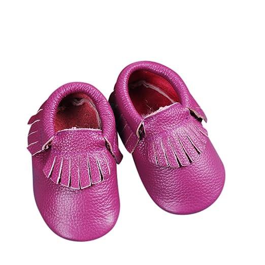 7d15fe0868e Unique Baby Leather Baby Moccasins Anti-Slip Shoes