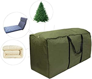skyfiree Patio Cushion/Cover Storage Bag Rectanglar with Zippers and Handles 68'' L x 30'' W x 20'' H Waterproof Cover Furniture Storage Bag
