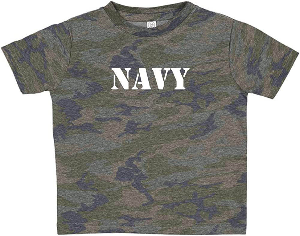 Navy Military Armed Forces Soldier Toddler//Kids Short Sleeve T-Shirt