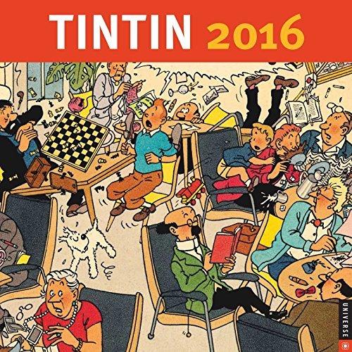 Tintin 2016 Wall Calendar by Herge' Moulinsart (September - Tintin Calendar