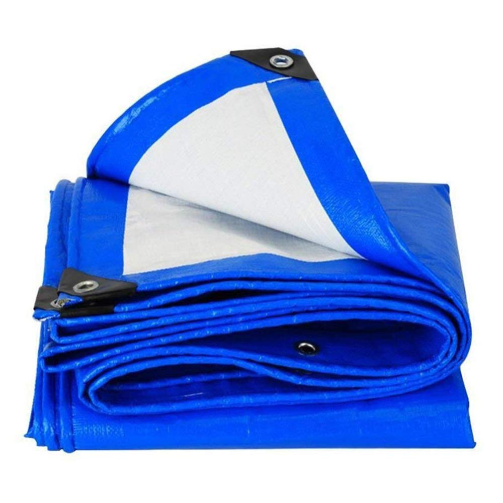 liul Lona de protección (Azul Tela de Lluvia Resistente Alfombra Alfombra Alfombra de Picnic protección Solar de Las Plantas Resistencia al frío, Aislamiento térmico, 15 Talla, Azul, 2x3m e2b12c