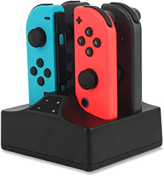 Base de carga compatible con Nintendo Switch Joy-Con 4 en 1 ...