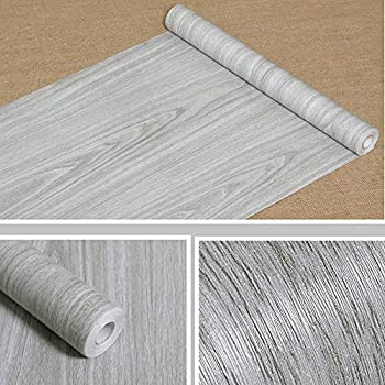 wood panel contact paper film vinyl self adhesive peel stick removable grey brown. Black Bedroom Furniture Sets. Home Design Ideas