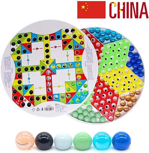 Damas Chinas con Canicas Juego De Mesa De Vidrio Flying Chess 2 En ...