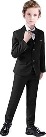 Boys Suit Kids Tuxedo Formal Child Ring Bearer Clothes Teen Outfits Set