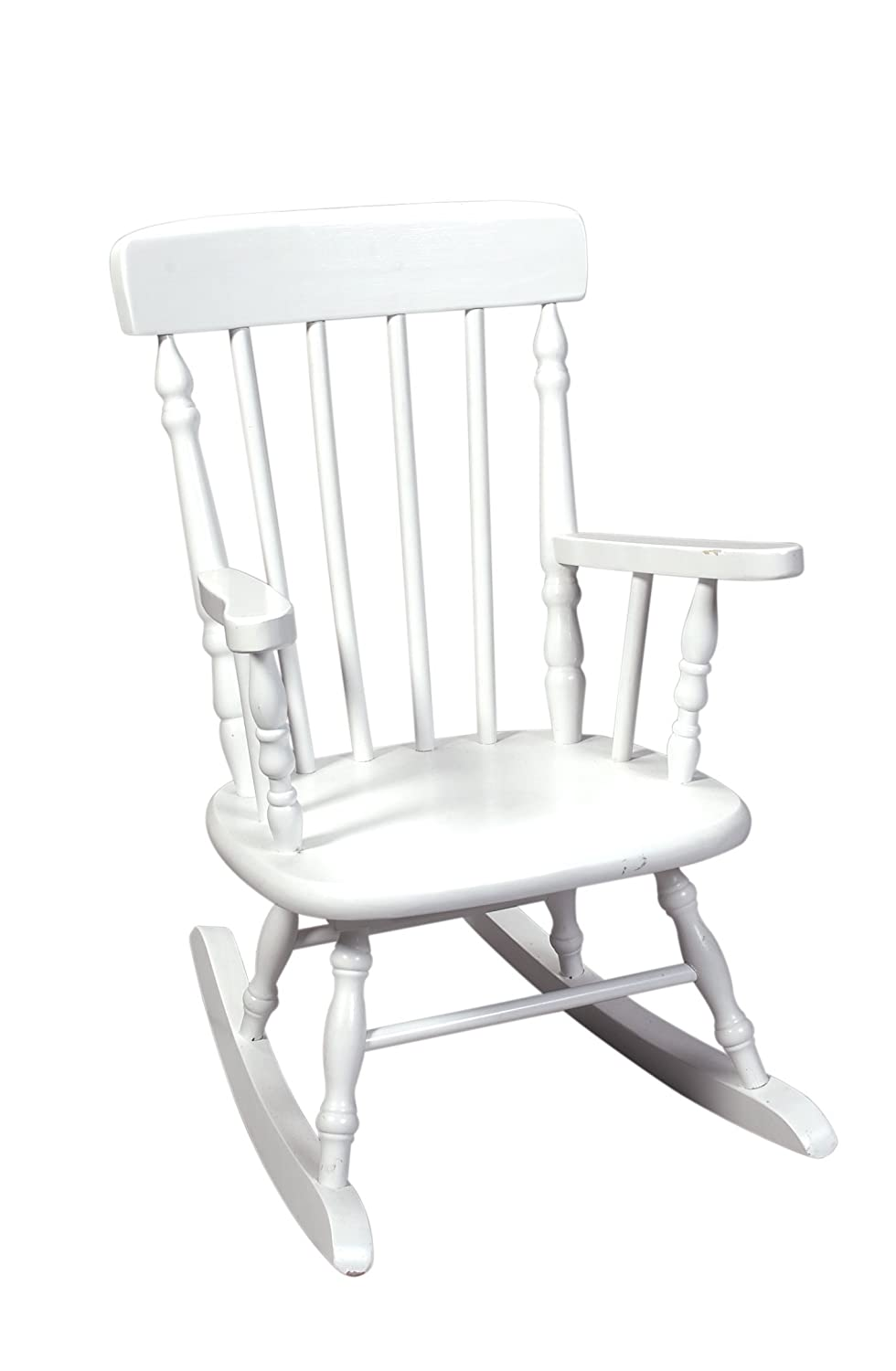 amazoncom gift mark deluxe spindle rocking chair white kitchen u0026 dining