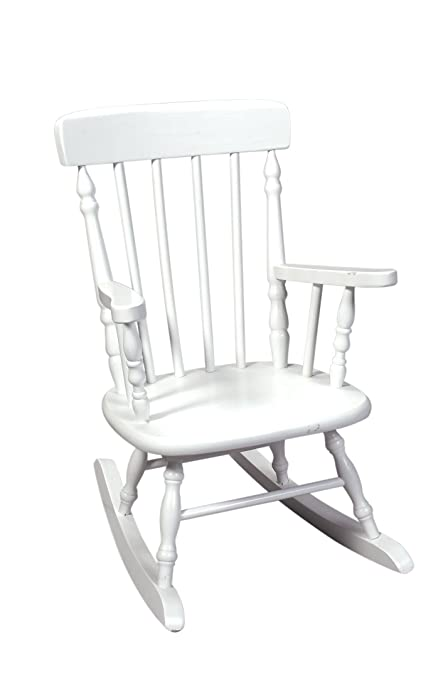 Charmant Gift Mark Deluxe Childrenu0027s Spindle Rocking Chair, White