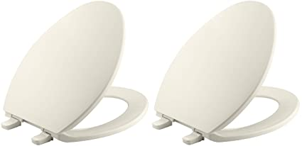 Super Kohler K 4774 47 Brevia With Quick Release Hinges Elongated Toilet Seat Almond Pack Of 2 Inzonedesignstudio Interior Chair Design Inzonedesignstudiocom
