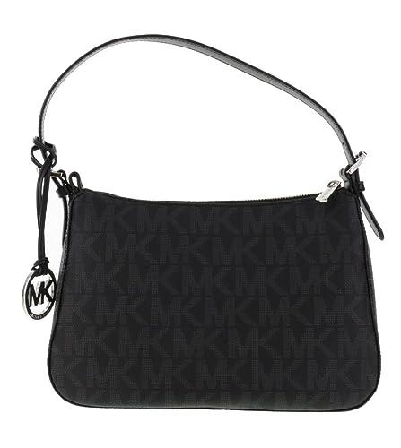 f7d7281a54 Michael Kors Jet Set Item Small Top Zip Shoulder Bag in Black ...