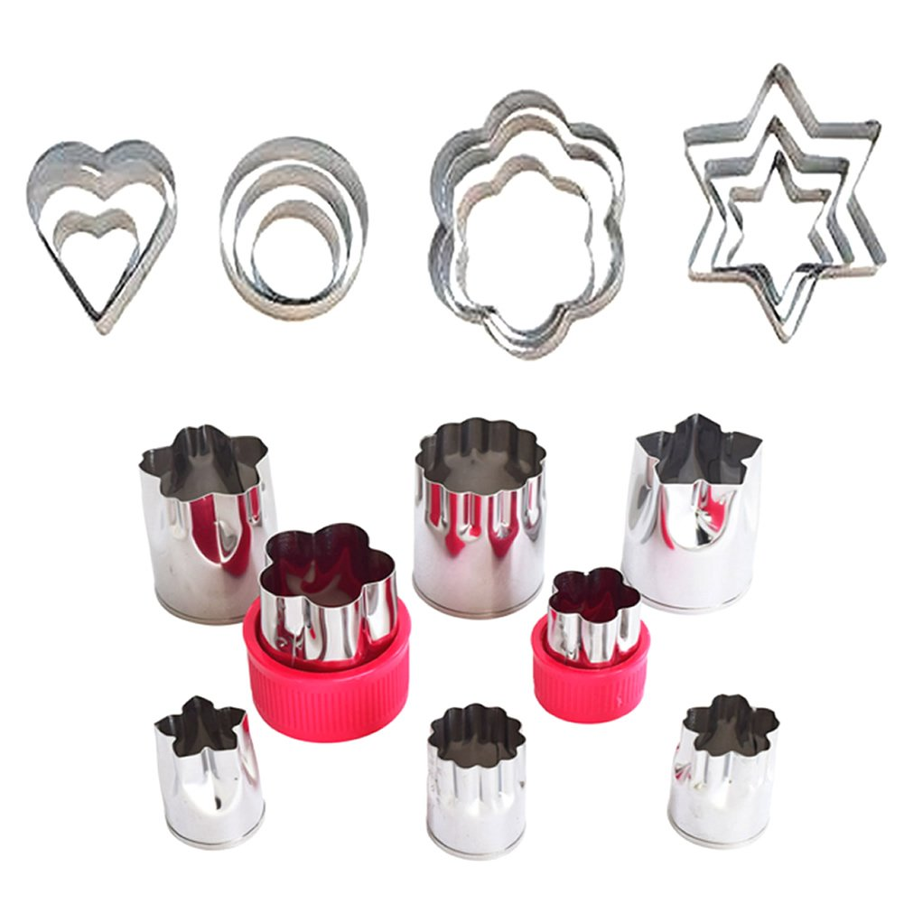 huele vegetable cutters shapes set cookie cutters fruit mold
