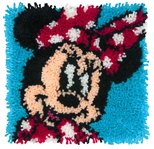 (Dimensions Disney Minnie Mouse Latch Hook Craft Kit for Kids, 12'' x 12'')