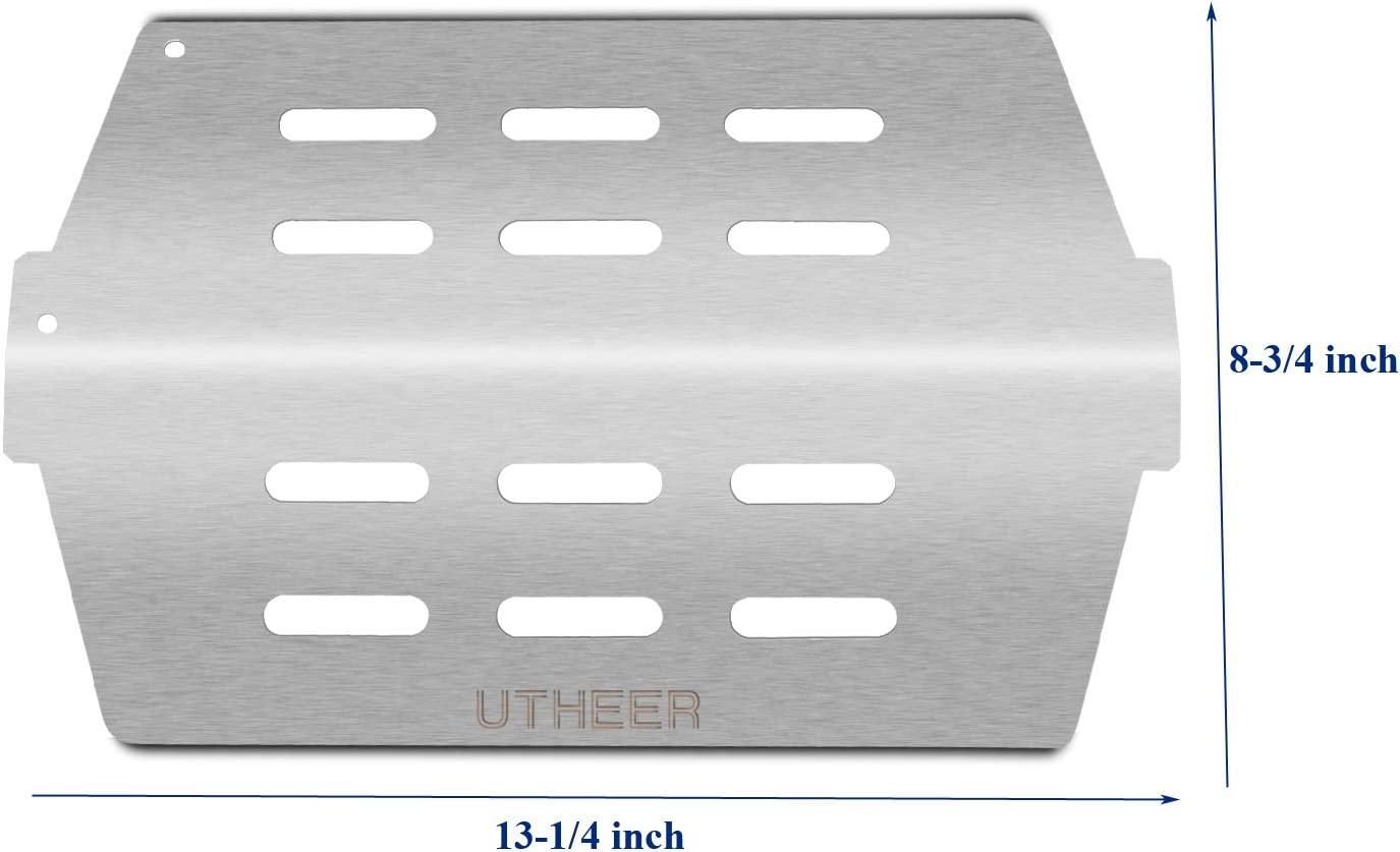 Utheer 7621 Grill Parts Flavorizer Bars 17.5 Inches for Weber Genesis 300 310 Series E-310 E-320 E-330 S-310 S-320 S-330 with Front Controls Replaces Weber 7621 7620 Heat Plates