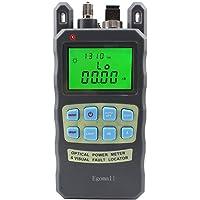 Egomall Testeur de Câble à fibre optique -70 à +10 dBm et 1mW 3.1mi Wattmètre portable de fibre optique avec testeur de fibre de Sc et Fc Connecteur