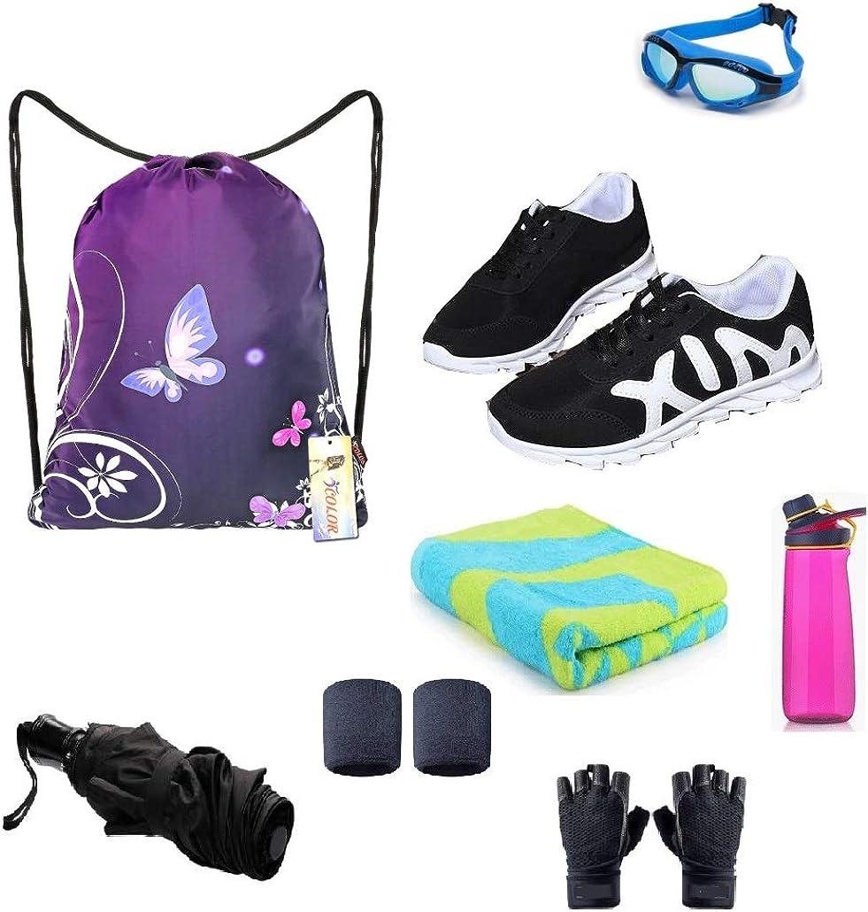 iColor Drawstring Bag Backpack Sackpack Gym sack Dance Sport Beach Daypack for Girls Women