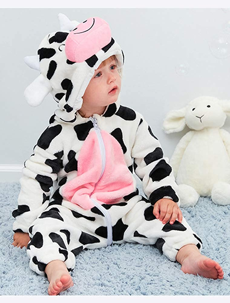 ef4c3dccb Abolai Unisex-Baby Flannel Onesie Winter Romper Animal Pajamas Jumpsuit  Outfits Kids