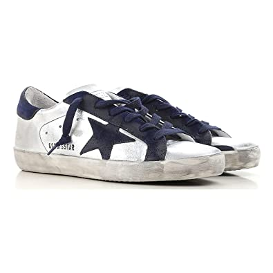 725d9a9aa0ab3 Golden Goose Deluxe Brand Superstar Silver Women Sneakers G33WS590.H51 Size  36 (6 US