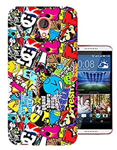 589 - StickerBomb Sticker Bomb Cool Funky Design htc Desire 820 Fashion Trend CASE Gel Rubber Silicone All Edges Protection Case Cover