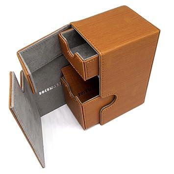 docsmagic.de Premium Magnetic Tray Box (100) Gold + Deck Divider ...