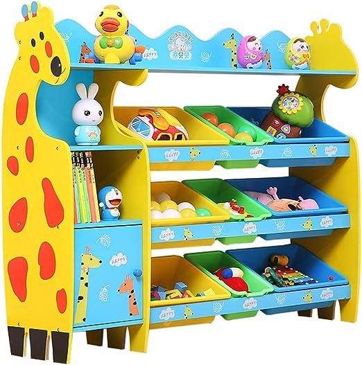 Estante de Almacenamiento de Juguetes para niños Armario para Almacenamiento de bebés Marco de Acabado jardín de Infantes Almacenamiento de Libros de Imagen (Color : V): Amazon.es: Hogar