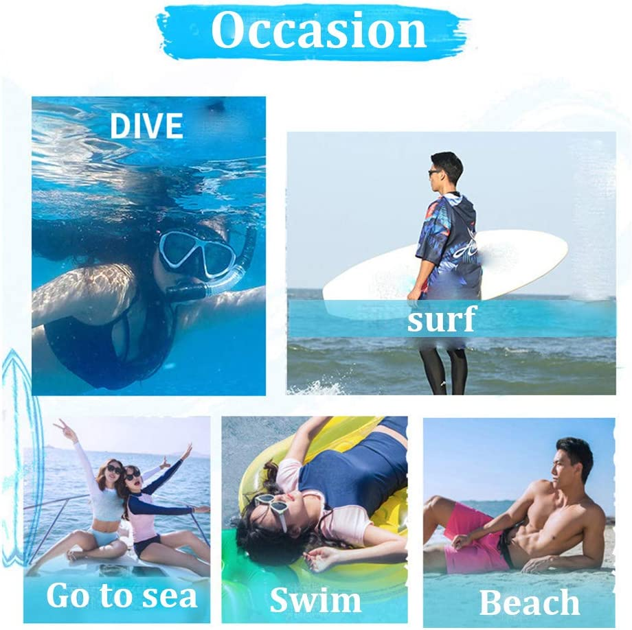 Beach Surfing Swimming Robe Light Weight Wetsuit Changing Poncho Extra Long in Microfibre sun,75x110cm Chickwin Hooded Changing Robe Surf Poncho Towel