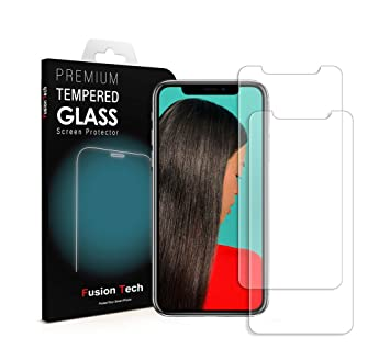 iPhone X Protector de pantalla fusiontech® [vidrio templado] iPhone X cristal protector de