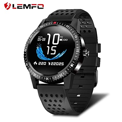 Amazon.com: LEMFO T1 Smartwatch IP67 Waterproof Wearable ...