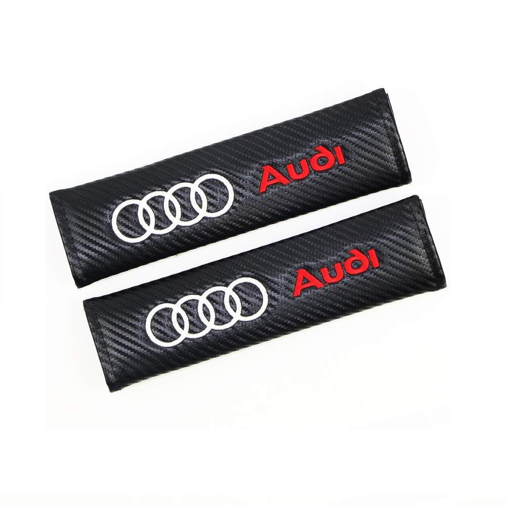 Bestickte Sicherheitsgurtabdeckung Schulterpolster 2 St/ück Kohlefaser-Kissen f/ür Auto Audi