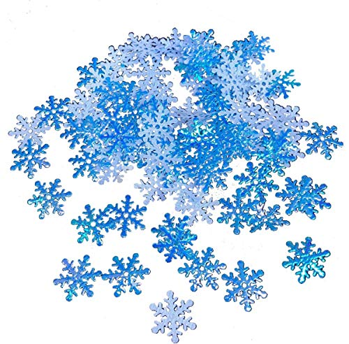 Foam Snowflakes Confetti for Craft Projects Table Christmas Wedding Birthday Winter Party Decoration Decor Ornanments Supplies (Blue 1500pcs) -