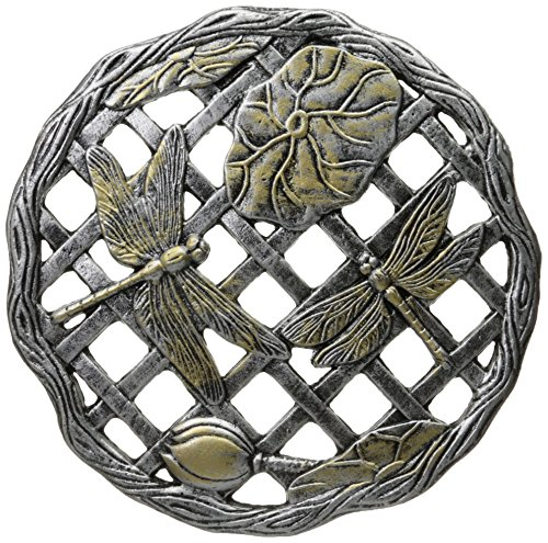 - Oakland Living Dragonfly Decorative Stone, Antique Pewter