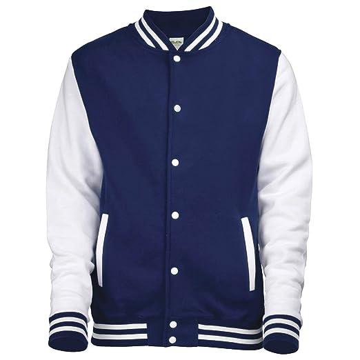 Amazon.com: Awdis Varsity Jacket Heather Grey/White: Clothing
