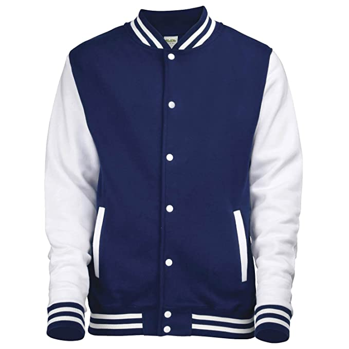 Awdis del equipo universitario de la chaqueta - 16 C - Oxford Navy / White - 2XL