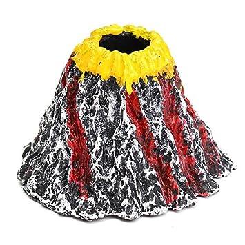 importados volcán forma Acuario Bomba de oxígeno tanque de peces decoración peces tanque bomba de aire Piedra burbuja de aire disco juguete Adorno de ...