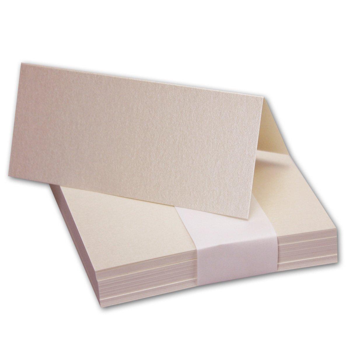 200x Tischkarten in Hochweiß I Größe  100 x 90 mm (Gefaltet 100 x 45 mm) I 240 g m² - Sehr Schwere und Stabile Qualität I aus der Serie FarbenFroh von NEUSER  B07FSDPRQ8 | Qualitativ Hochwertiges Produkt
