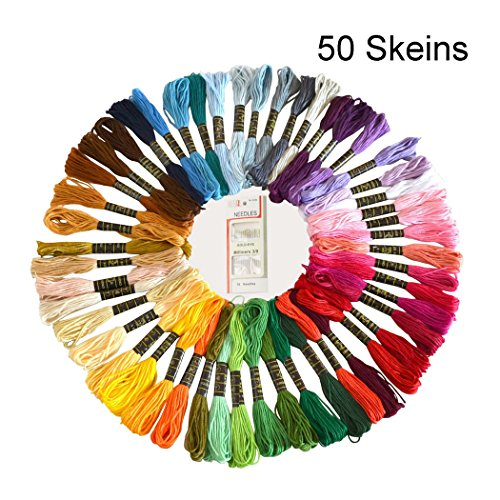 50 Skeins Embroidery Floss and Embroidery Needles