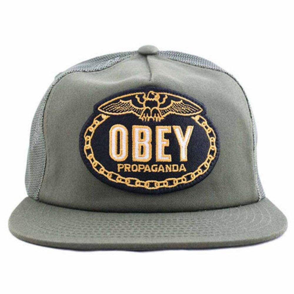 Obey - Gorro de Punto - para Hombre Verde Verde Oliva: Amazon.es ...