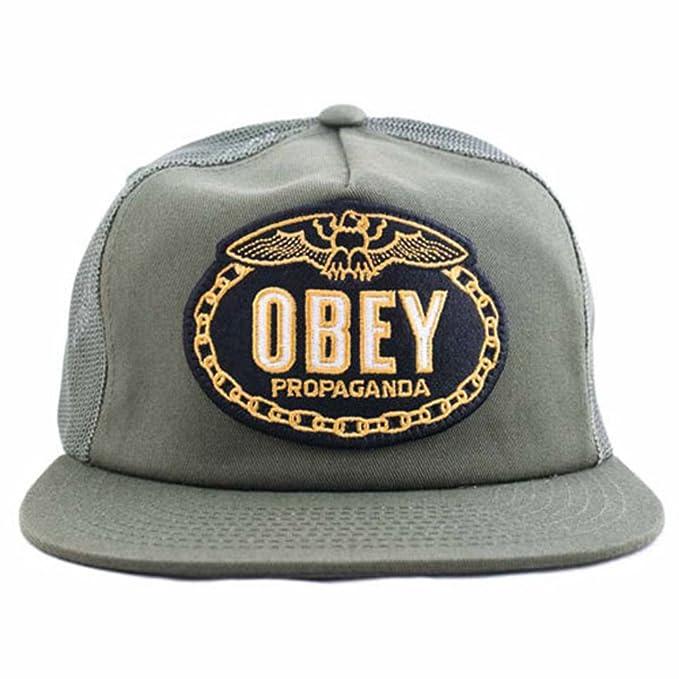 Obey - Gorro de Punto - para Hombre Verde Verde Oliva: Amazon.es: Ropa y accesorios