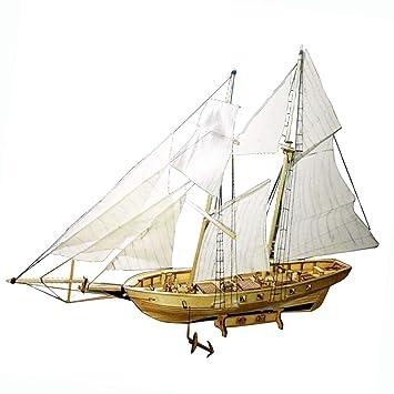 Baoblaze 130 Diy Holz 3d Schiff Segelboot Modellbausatz