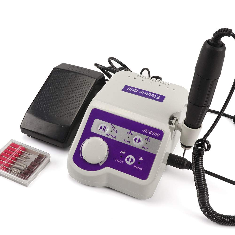 Christzo Electric Nail Drill Machine JD8500 65W 35000RPM Manicure Tool Pedicure Polisher Nails Art Equipment : Beauty