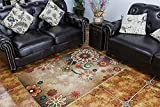 MeMoreCool Boho Area Rugs Retro Floral Home Living Mats Protective Decorative Carpets 1PC 39 X 59 Inch For Sale