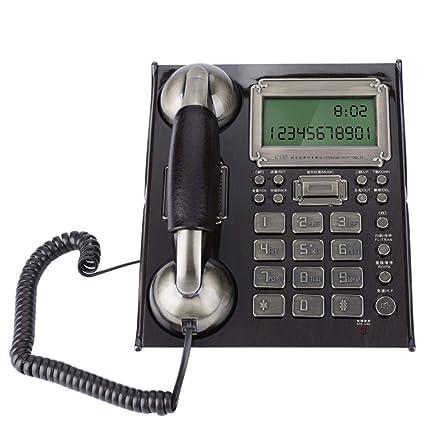 Festnetz Telefon mit Nummeranzeige Lautsprecher Blitzschutzfunktion Analog Telefon f/ür B/üro Wohnzimmer Schwarz Diyeeni Schnurgebundenes Retro Telefon aus Holz Klassische Telefon Leichte Bedienugn