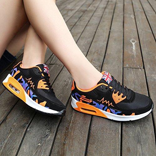 Cuscino Daria Delle Donne Ausom Moda Casual Traspirante Scarpe Da Ginnastica Arancione Scarpa Da Corsa 1