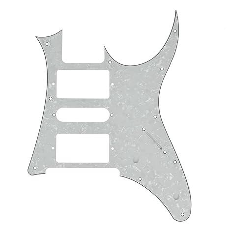 Kmise guitarra eléctrica golpeador Para Guitarra Ibanez Rg 7 V de repuesto Color blanco perla