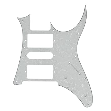 Amazon.com: Kmise Electric Guitar Pickguard For Ibanez RG 7V replacement White Pearl: Musical Instruments