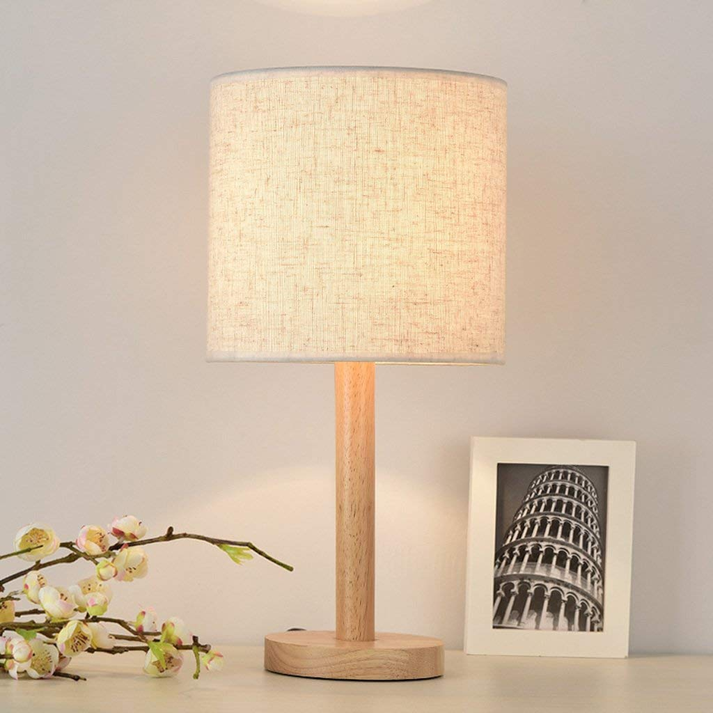 ... Lightings Table Lamp Modern Contemporary Simple Cloth Craft Table Bedroom Bedside Decoration Solid Wood Creative Led E27 -A, a: Sports & Outdoors