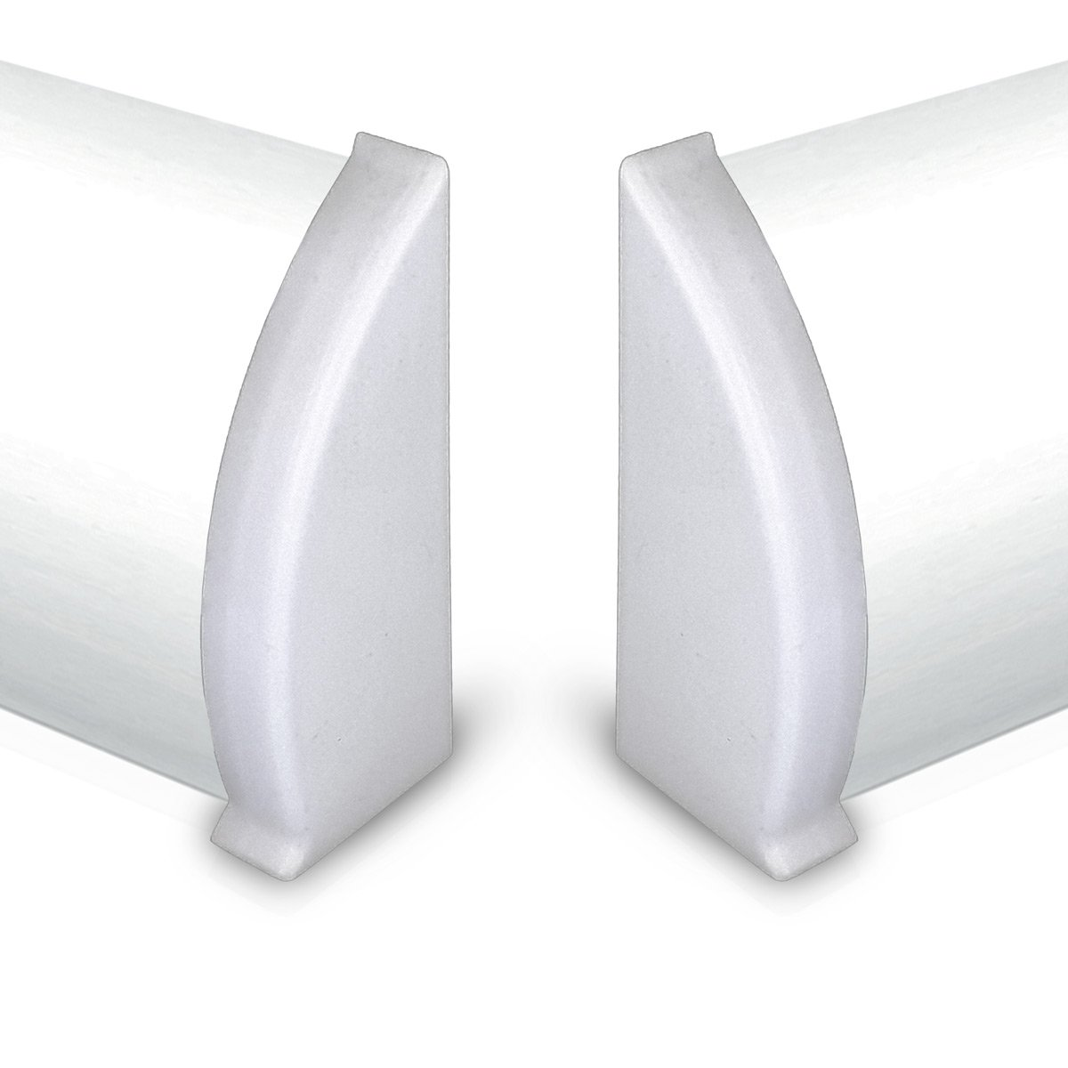 1 Paar L/ängenverbinder f/ür Kabelkanal Sockelleiste in ALU Dekor