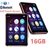 MP3 Player Bluetooth4.2 with 2.5 inch LCD Full Touch Screen 16GB HiFi Lossless Music Player Built-in Speaker Supports FM