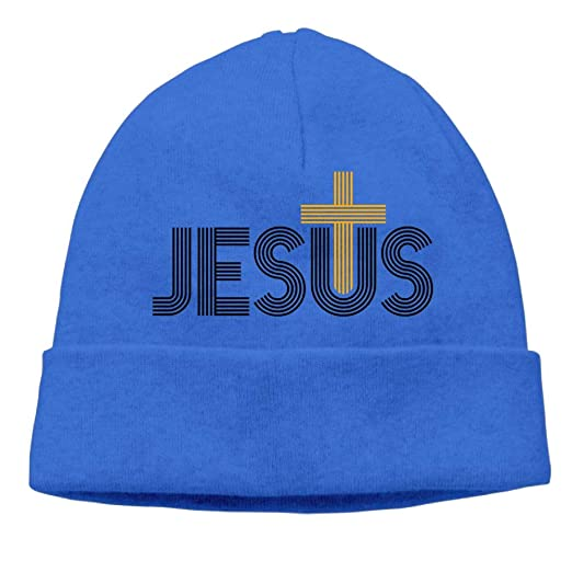 19e04335a4d Image Unavailable. Image not available for. Color  Beanies Knit Hat Ski Caps  Jesus Christian ...