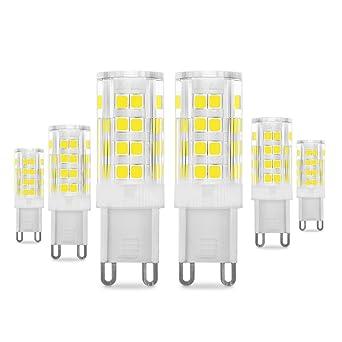 Bombillas LED G9 de 5W, Pursnic Equivalentes a Lámparas halógenas de 40W, 6000K G9