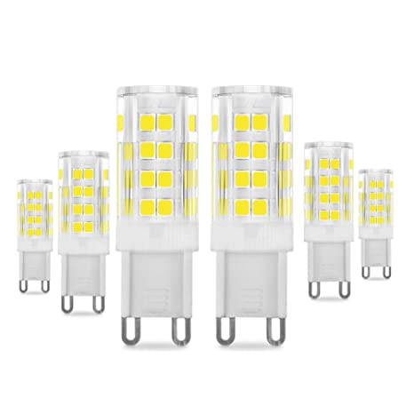 Lampadine G9 Led.G9 Led Bulb 5w 400lm 40 Watt Halogen Bulbs Equivalent Daylight White 6000k Energy Saving G9 Bulbs 360 Beam Angle 220 240v 6 Pack